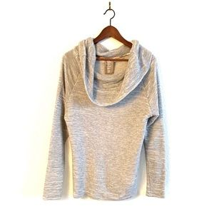 Anthropologie Dolan Cowl Neck Sweater Gray Ribbed